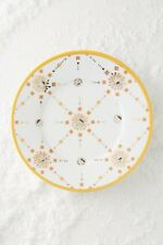 Anthropologie Formoria Dessert Side Porcelain Yellow Plate 8.25""