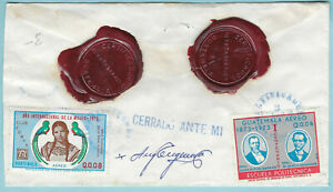 GUATEMALA 1975 REGISTERED AND INSURED COVER WITH WAX SEALS  (WS406)