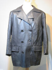 Womens Gavin Brown - Black Leather Coat (Size 18)