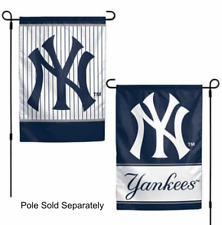 New York Yankees 2 Sided Double Garden Flag Outdoor Window Banner 12 x18 New.
