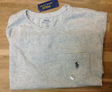 Polo Ralph Lauren Jersey Pocket Crew Neck, Lawrence Gray, Size L, MSRP $45