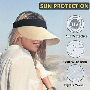 Summer Empty Top Sun cap Portable Fold able Magic Tape Roll-up Beach Hat Fashion