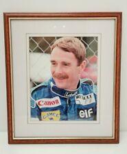 New listing Vtg Nigel Mansell SIGNED Frame Photo Autograph Renault Formula 1 F1 Motor Racing