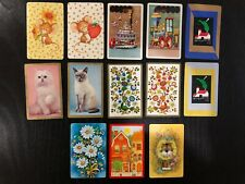 13 Vintage Swap Cards including 4 Mint Condition Cards, Swap Card Pairs