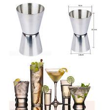 tala-premium ACERO jigger-single DOBLE Chupito Spirit Bebida Métrico TAZA COPA