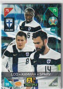 PANINI ADRENALYN XL EURO 2020 - 2021 KICK OFF CARD N. 368 FINLAND POWER TRIO