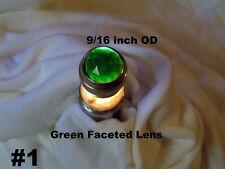 Lens Cap & Base NOS Vintage Panel Indicator Jewel Pilot Lamp Blue Opal  Green