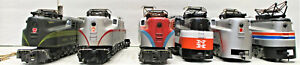 AHM AND TYCO GG1 ELECTRIC LOCOMOTIVES HO SCALE (NO BOXES) (6 LOT)