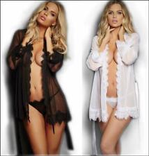 Sexy Women Lingerie Lace Robe See Through Cover Night Dress Sleepwear Bodysuit