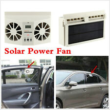 Solar Powered Dual Fan Car Window Air Vent Ventilator Air Conditioner Cooler Fan