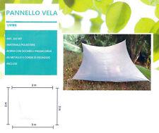TELO Tenda Pannello Parasole rettangolare con telo poliestere beige chiaro 3x3