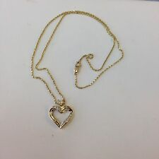 14k Diamond Heart Pendant With Chain