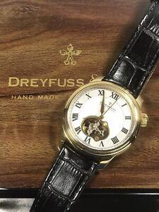 DREYFUSS & Co. Seafarer 1925 Swiss Men's Gold Automatic Watch DGS00092 7ATM 42mm