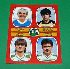 N°441 MILO DEPLAGNE SORIANO GOFFIN SETE D2 PANINI FOOTBALL 87 1986-1987