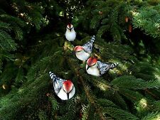 Small Resin Woodpecker Bird Figurine Set of 4