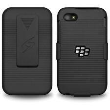 AMZER Coque holster étui dur + + béquille clip ceinture pour BlackBerry Q5-noir