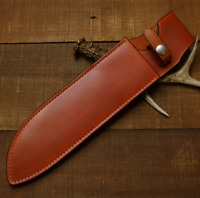 knife blade sheath dagger scabbard case bag cow leather customize brown Z1016
