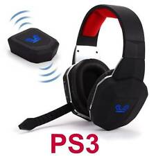 Wireless Gaming Stereo Headset for PS3 Playstation 3 Game Sound Chat NEW NEW