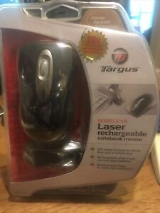 Targus Wireless Laser Rechargeable Notebook Travel Mouse AMW15US PC/Mac