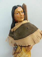 INDIAN SQUAW WITH PAPOOSE NATIVE AMERICAN INDIAN ORNAMENT BOXED
