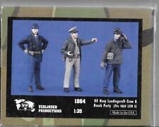 Verlinden WWII USN Landing Craft Crew, 3 Resin Figures 1/35 1864 ST