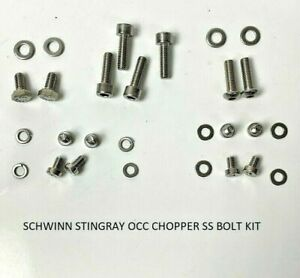 """! NEW ! Schwinn Stingray Chopper OCC 20"""" Stainless Steel Bolt Screw Kit"""