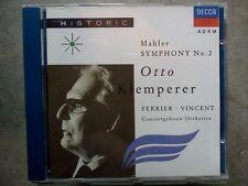 MAHLER - SYMPHONY NO. 2 CONCERTGEBOUW ORCHESTRA KLEMPERER – CD COME NUOVO