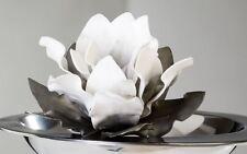 28007 Blume Foam Flower Schaumstoff Blüte, Durchmesser 20cm Weiss / Grau
