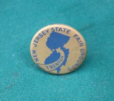 Circa 1920s New Jersey Interstate Fairgrounds, TRENTON NJ Pinback