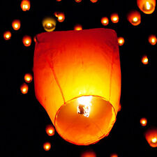 10Pcs White Chinese Sky Fire Lanterns Retro Khoom Fay Kong Ming Flying  Lantern