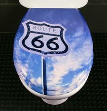 Toilet Seat Route 66 Novelty Toilet Seat Duroplast with Stainless Steel Hinges