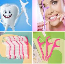 100 pcs Dental Floss Sticks & Tooth Picks Teeth Plaque Remover Interdental