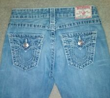 Auth. TRUE RELIGION JEANS JOEY BIG T Stitch 26 x 32 Women's Light Wash Pants