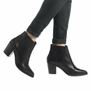 DIESEL D STELA MA Y01432 900 Womens Ankle Boots Calf Leather Ladies Casual Shoes