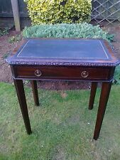 Antique Edwardian Mahogany Leather Top Hall/Writing/Occasional Table
