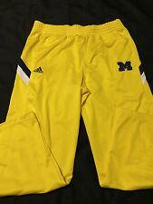 Adidas University Of Michigan Yellow Stripped Sweat Pants Mens Size 58