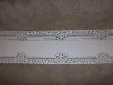 New White Lace Battenburg design Table Runner 72 x 14