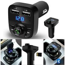Wireless Bluetooth Handsfree Car Kit FM Transmitter MP3 Player Dual USB UK