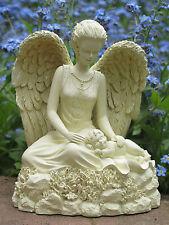 *Engel mit Baby* Figur Geburt Taufe Schutzengel Grabschmuck mit Hohlraum- 20126