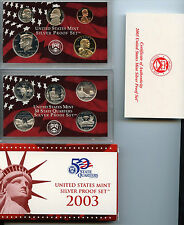 ****Complete  Beautiful 2003 Silver Proof Set with COA*****