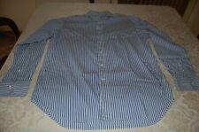 CIT - Camicia uomo, Azzurro e bianco a strisce, 100% cotone, tg 40, usata
