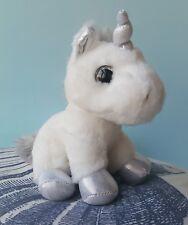 "Sparkle Tales Twinkle Unicorn Plush Soft Toy 7"" Gold Pink Blue Silver AURORA"