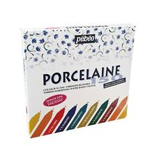 Pebeo Porcelaine 150 Permanent Ceramic Paint Marker Set of 9 Colours 0.7mm Nib