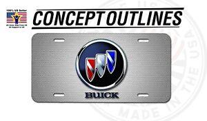 Buick Premium Aluminium License Plate Tag Custom For Car Room T-BuiWiCa#1
