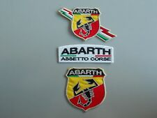 ABARTH KIT 3 TOPPE PATCH RICAMATE CON TRICOLORE TERMOADESIVE