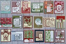 18 Christmas Holiday Winter greeting cards envelopes Stampin' Up! plus more