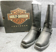 New Genuine Harley Hustin Mens Slip On Motorcycle Boots Size 9 D95354 #C146