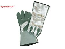 """Aluminized high Heat Resistant 13"""" Gloves Leather Palm 800° WELDING SAFTEY MITTS"""