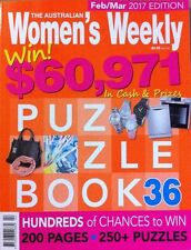 THE AUSTRALIAN WOMENS WEEKLY PUZZLE BOOK 36 - FEB/MAR 2017 EDITION
