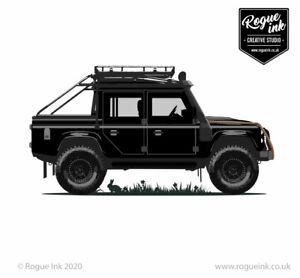 Land Rover Defender 110 Spectre T-Shirt 007 Illustration 100% Cotton T-Shirt